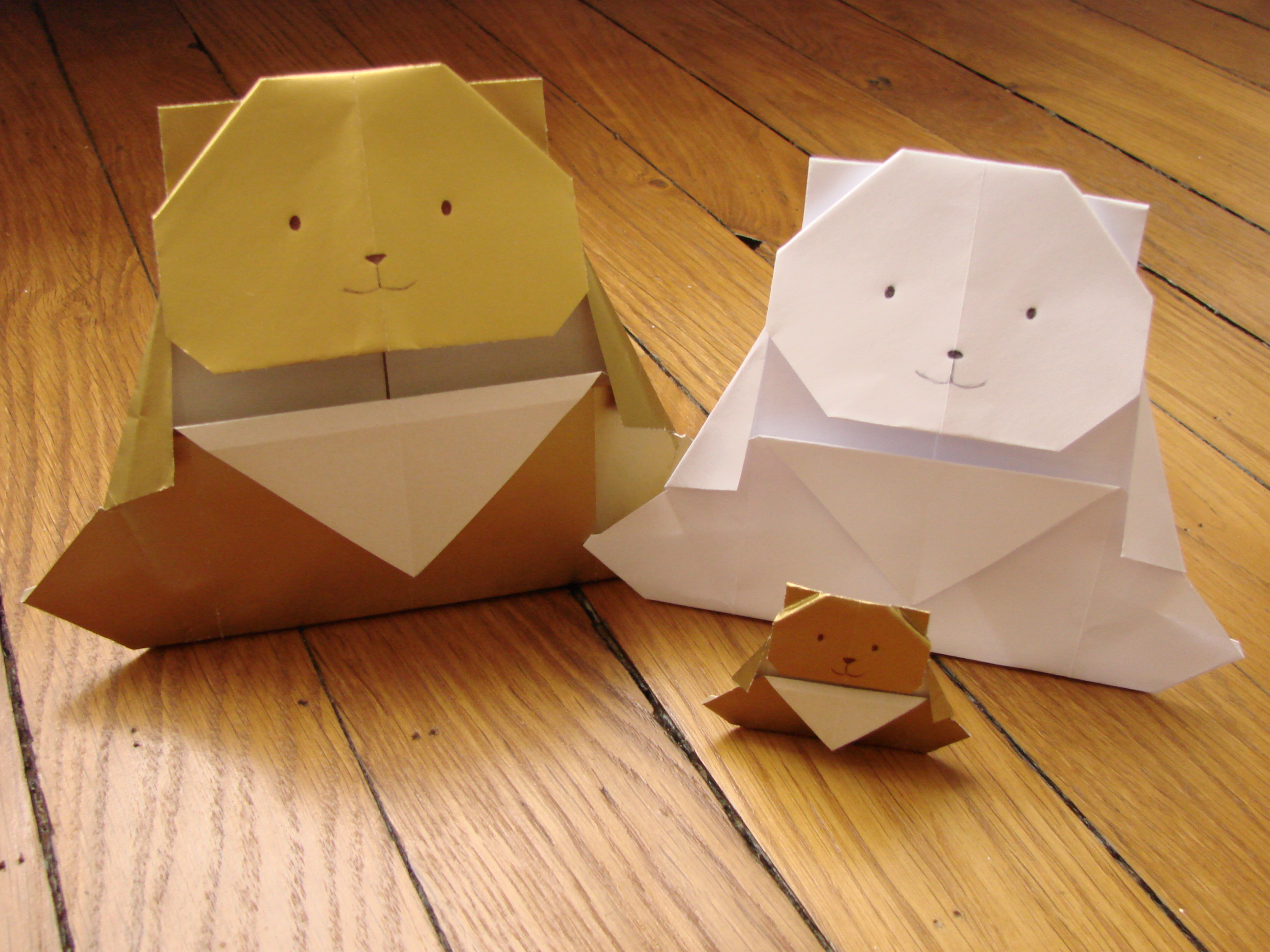 Origami ours ourserie - Origami simple a realiser ...