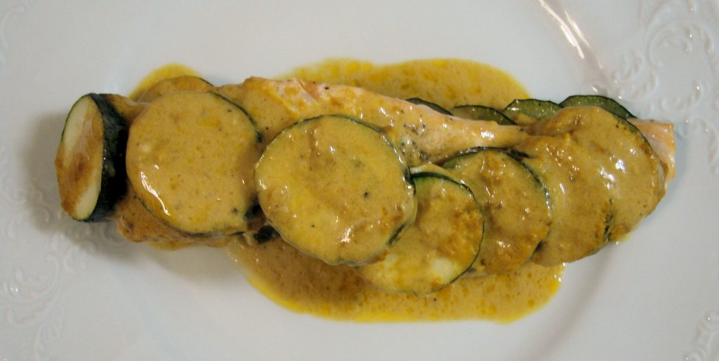 Ourserie.com - Papillotes saumon courgettes et curry